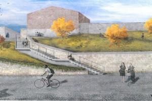 Sanierung der Stadtmauer und Neubau der Pfortentreppe